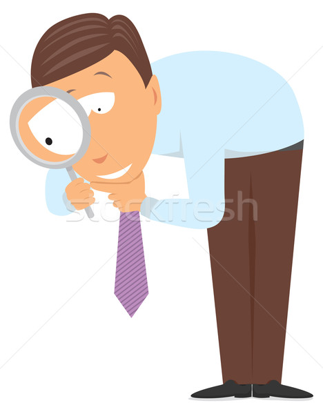 Stock photo: Businessman researching