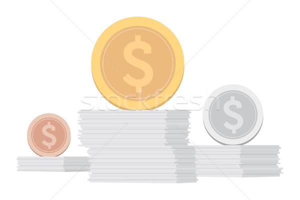 O melhor estoque investimento dinheiro financiar ouro Foto stock © curvabezier