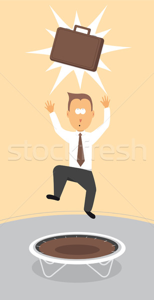 Businessman reaching for briefcase / Getting your dream job Stock photo © curvabezier