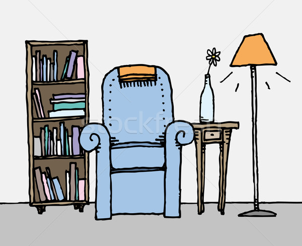 カラフル リビングルーム 日々 ホーム 装飾 花 ストックフォト © curvabezier
