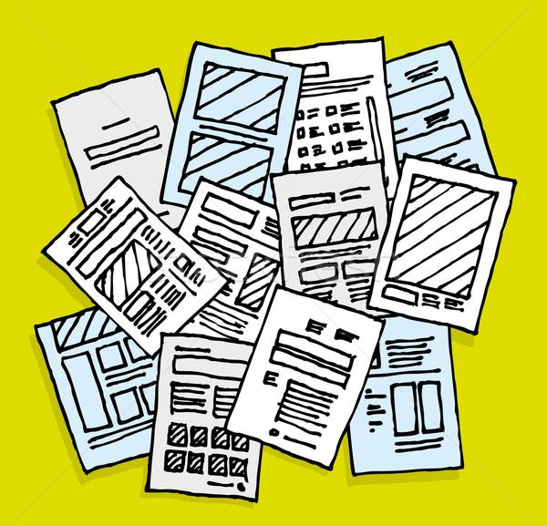 Documenten rommelig wanorde planning verslag Stockfoto © curvabezier