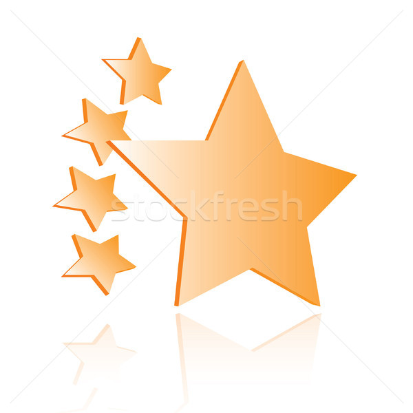 Star quality shiny rating icon Stock photo © curvabezier