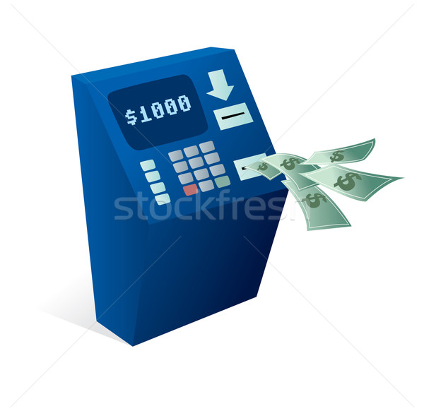 ATM Cash dispenser giving money away Stock photo © curvabezier
