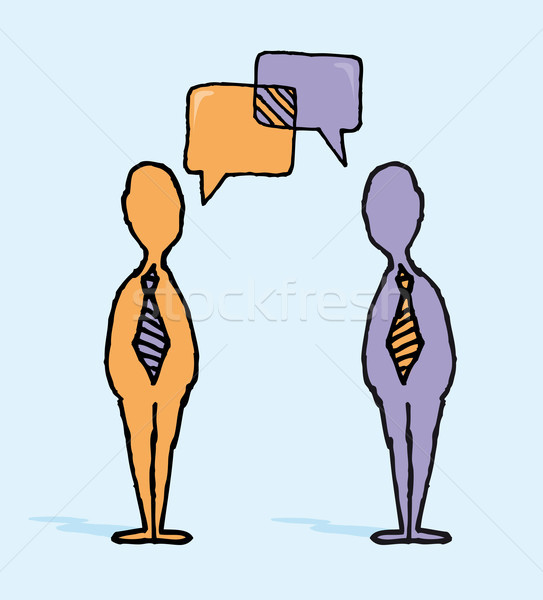 Business negotiation / Businessmen dialog Stock photo © curvabezier