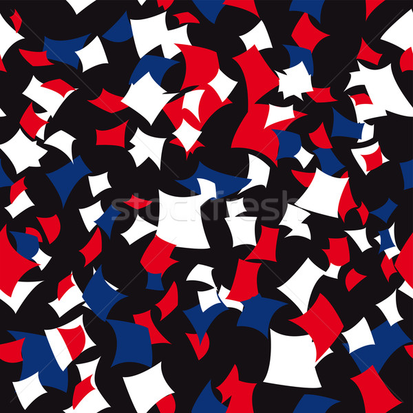 Seamless Patriotic Confetti Pattern Stock photo © curvabezier