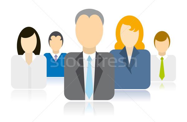ビジネスの方々  チーム アイコン 女性 ビジネスマン ベクトル ストックフォト © curvabezier