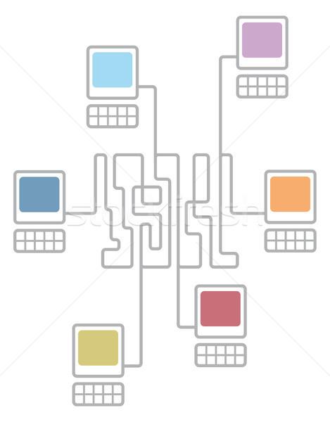 Complexo computador rede diagrama Foto stock © curvabezier