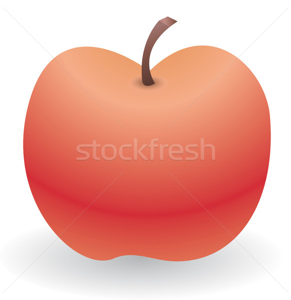 Lone red apple Stock photo © curvabezier