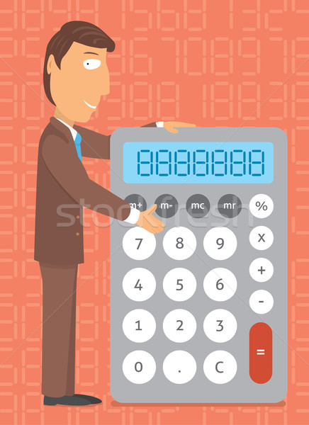 Business calculator / Doing the numbers Stock photo © curvabezier