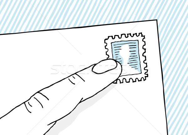 Edad escuela mail sello Foto stock © curvabezier