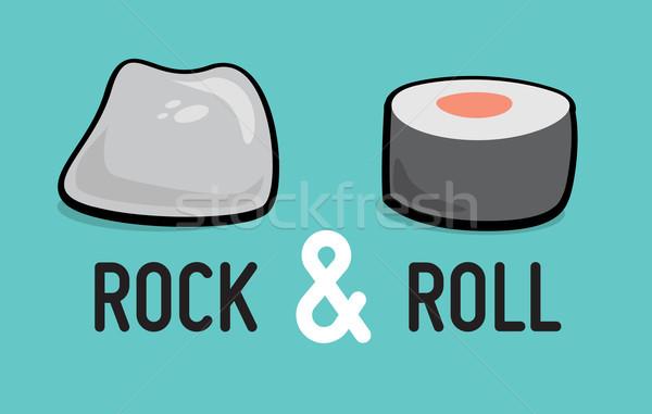 Rock toczyć humor muzyki Zdjęcia stock © curvabezier