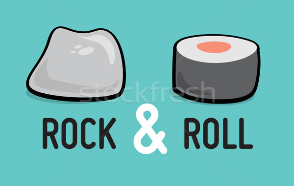 рок катиться юмор музыку Сток-фото © curvabezier