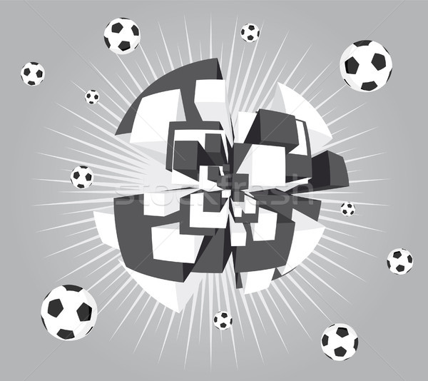 Soccer abstract ball exploding background Stock photo © curvabezier