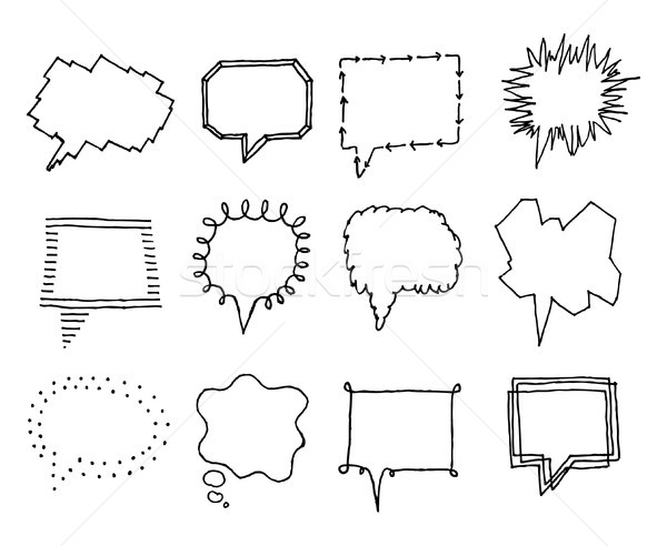 Set of speech bubbles with personality 2 Stock photo © curvabezier