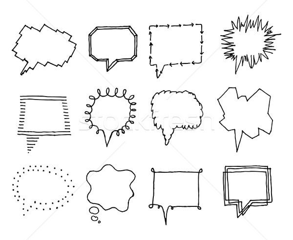 Ayarlamak kişilik iletişim ses çizim Stok fotoğraf © curvabezier