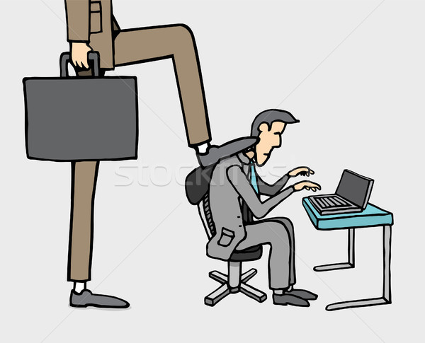 Boss pressure at work / Stressed out Stock photo © curvabezier