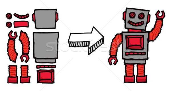 Assembling a robot Stock photo © curvabezier