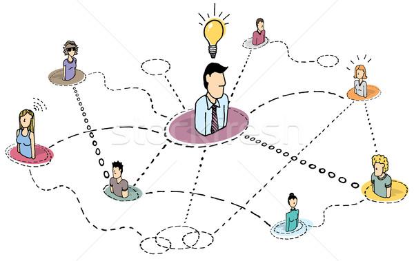 創造的思考 チームワーク アイデア プロセス ブレーンストーミング 作業 ストックフォト © curvabezier