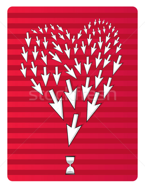 Valentine cursors shaping heart Stock photo © curvabezier