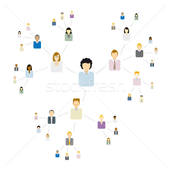Viral Network / Communication Stock photo © curvabezier