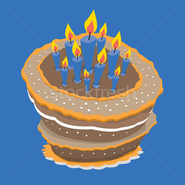 Marvelous Birthday Cake Vector Illustration C Diego Schtutman Curvabezier Personalised Birthday Cards Epsylily Jamesorg