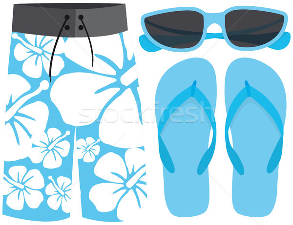 Swimsuit, sunglasses and sandals Stock photo © curvabezier