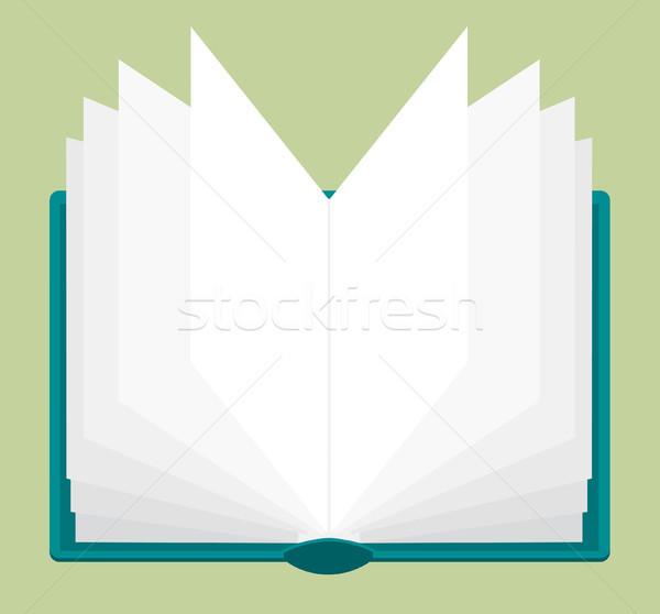 Livro aberto leitura estudar Foto stock © curvabezier