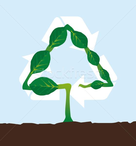 自然 工場 リサイクル シンボル ストックフォト © curvabezier