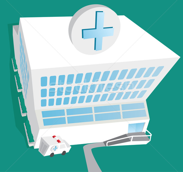 Kórház bejárat mentő gyógyszer Stock fotó © curvabezier