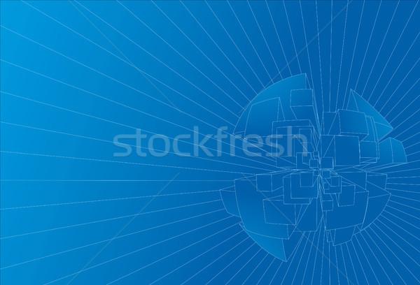 抽象的な 技術 青 背景 青写真 ベクトル ストックフォト © curvabezier