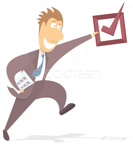 Businessman reaching objective Stock photo © curvabezier
