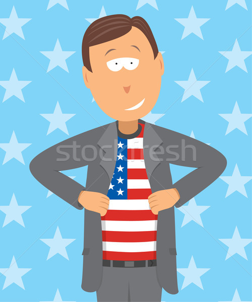 Proud american patriot Stock photo © curvabezier