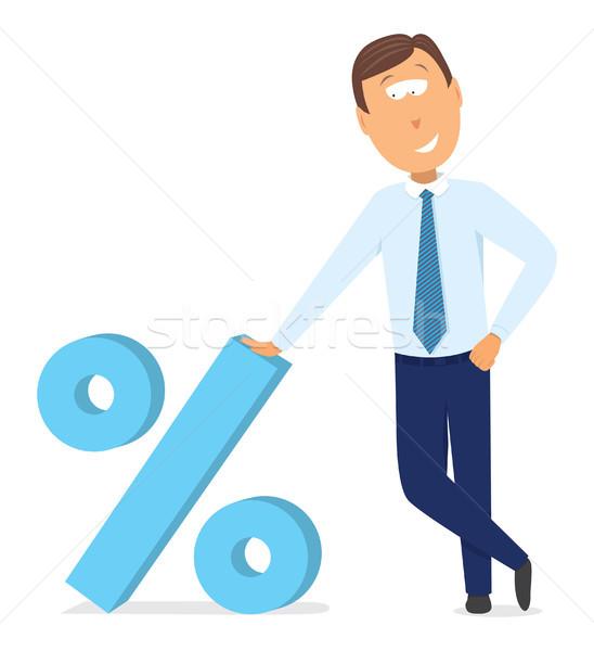 ビジネスマン パーセンテージ 割引 シンボル ビジネス 成功 ストックフォト © curvabezier