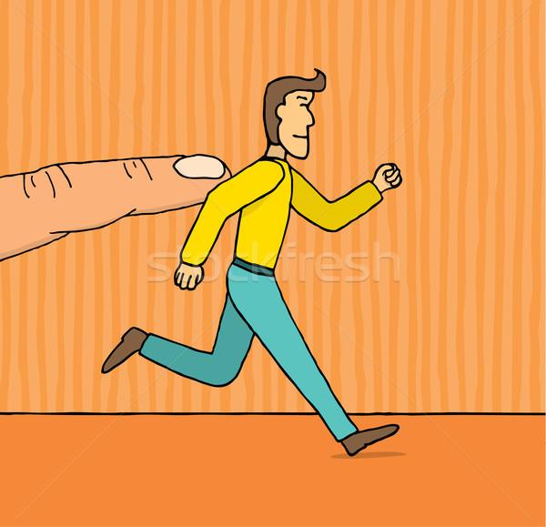 Guy receiving a little push Stock photo © curvabezier