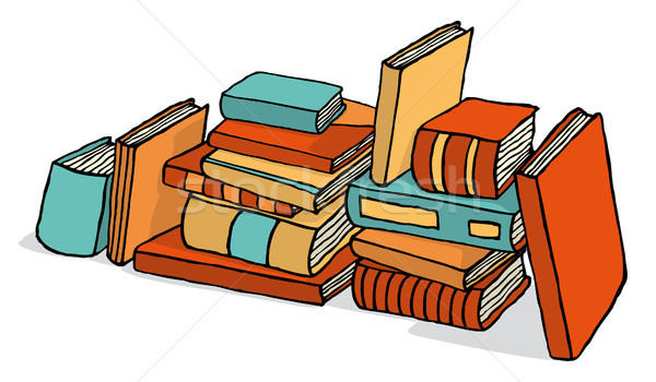 Sketchy bunch of piled books Stock photo © curvabezier