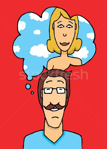 Man liefde vrouw hemel vrouwen mannen Stockfoto © curvabezier
