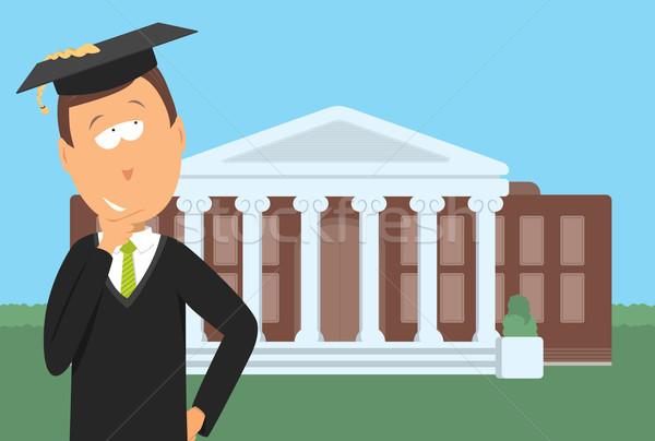 Pós-graduação faculdade pensando educação Foto stock © curvabezier