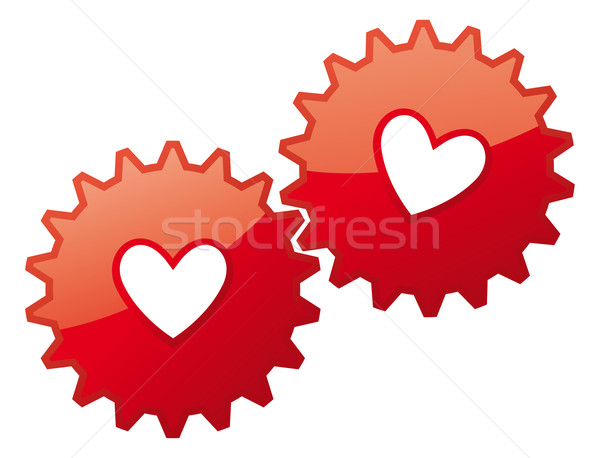 Valentine card heart icon / Love concept feelings Stock photo © curvabezier