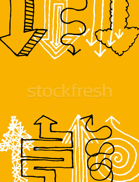 Cartoon arrows pointing at copy space Stock photo © curvabezier