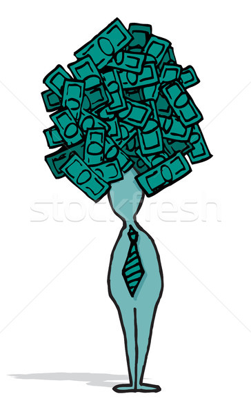 Empresário ambicioso idéia negócio dinheiro Foto stock © curvabezier