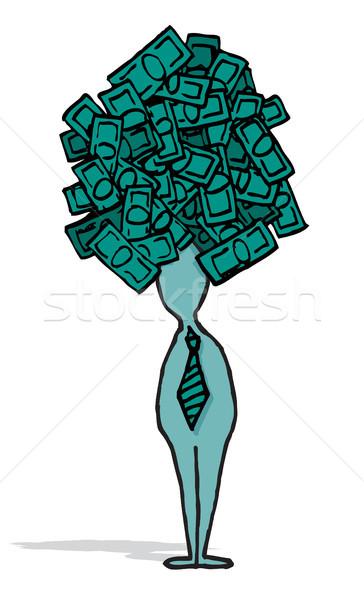 Zakenman ambitieus idee business geld Stockfoto © curvabezier