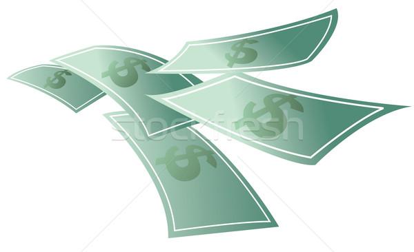 Money floating, dollars flying Stock photo © curvabezier