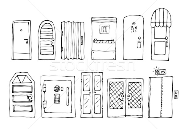 Doors and entrance set Stock photo © curvabezier