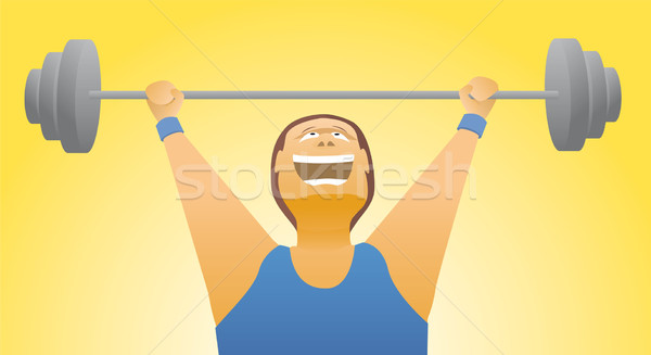 Weightlifter strength / Body building Stock photo © curvabezier