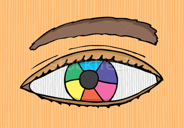 Colorful designer eye Stock photo © curvabezier