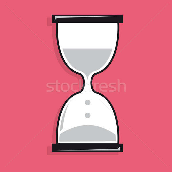 Sand clock icon Stock photo © curvabezier