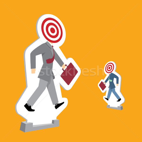 Businessmen standing as targets Stock photo © curvabezier
