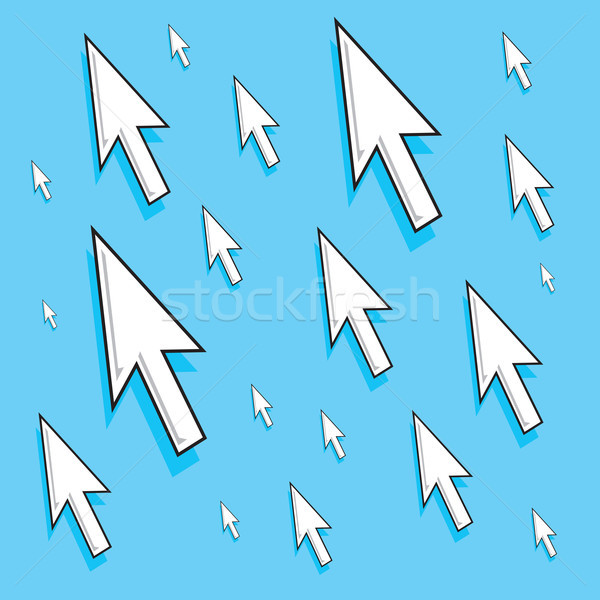 Bos aanval teken witte verbinding richting Stockfoto © curvabezier