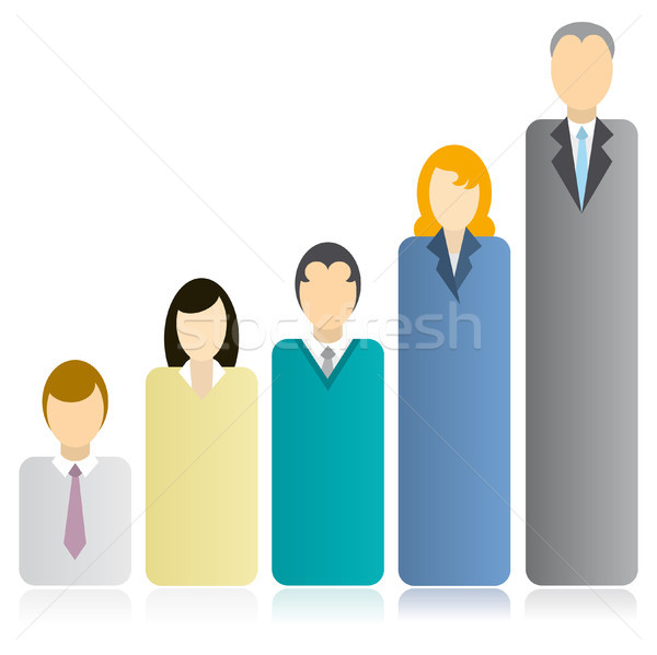 Businessman competition graph Stock photo © curvabezier