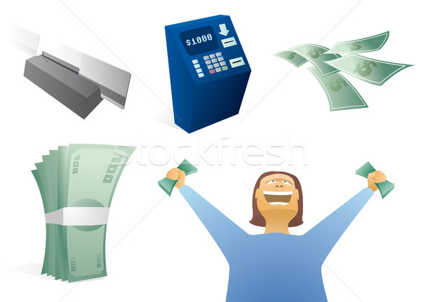 Money / Finance Icon Set Stock photo © curvabezier